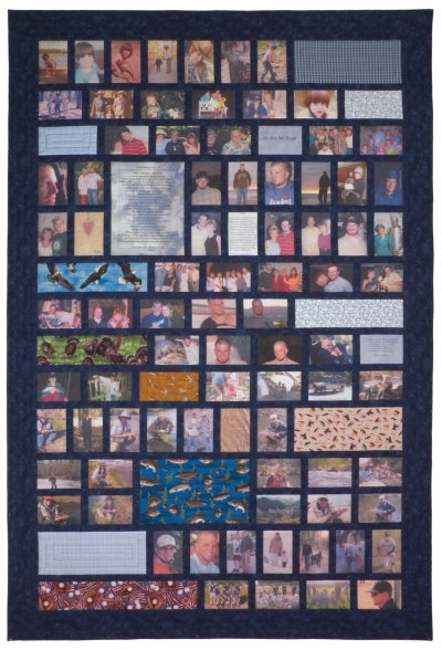 A Life Well Lived Custom Photo Memory Quilt by Whimzie Quiltz and More