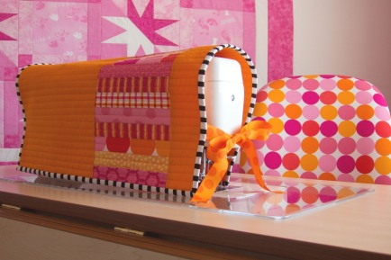 Pink & Orange Sewing Machine Cover