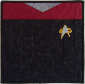 StarTrek Captain Janeway Uniform Pillow