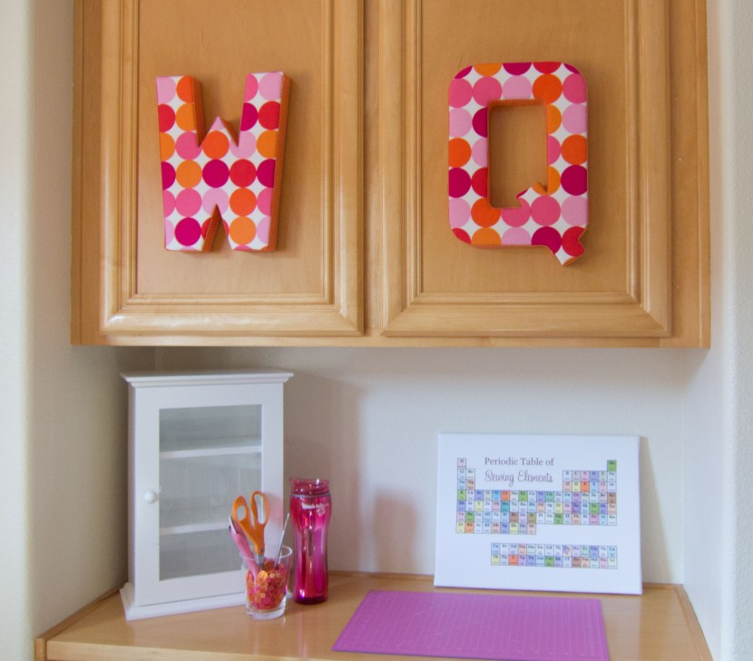 "Fabric Covered ""W"" & ""Q"""