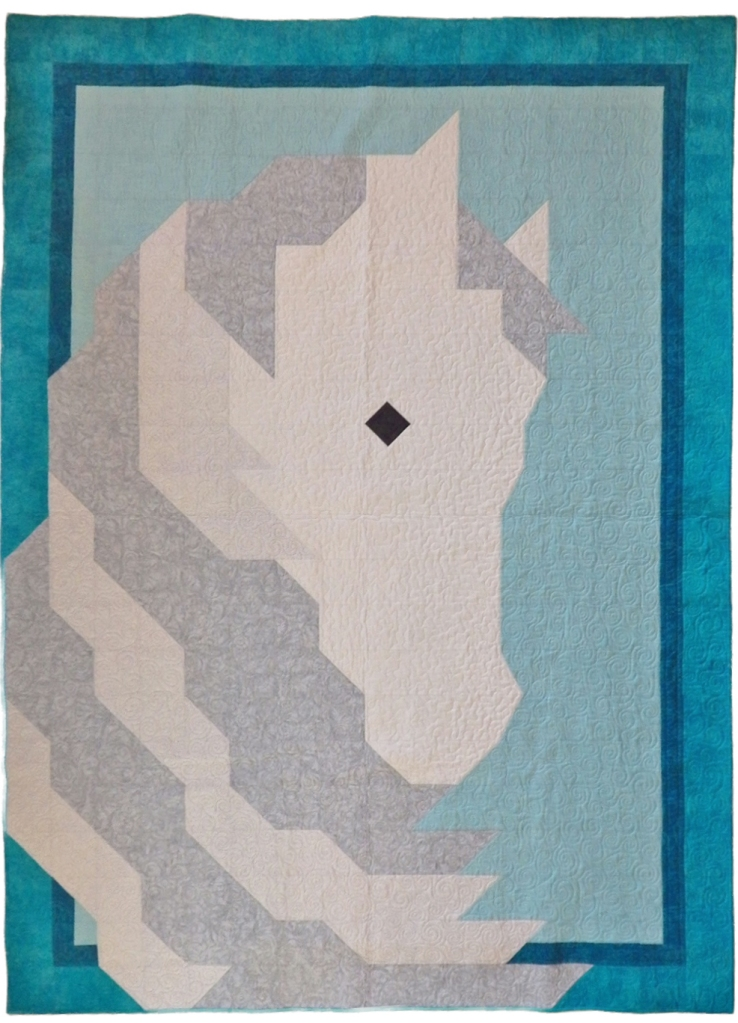 Teal Horse Quilt