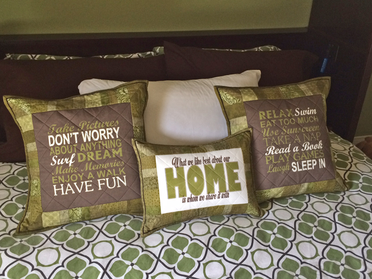 Welcome Pillows