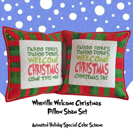Welcome Christmas Pillow Sham Set