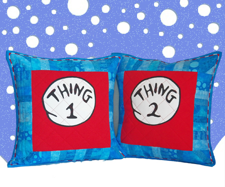 Thing 1 & Thing 2 Pillow Shams