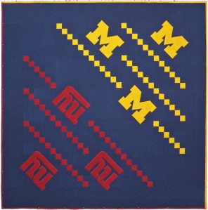 New York Giants University of Michigan Quilt