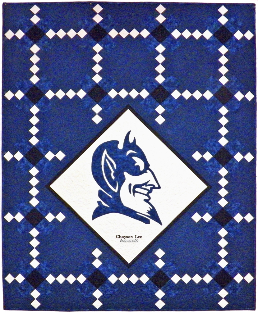 Duke Blue Devil Quilt