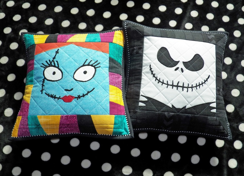 Jack Skellington & Sally from The Nightmare Before Christmas Pillow Shams by Whimzie Quiltz