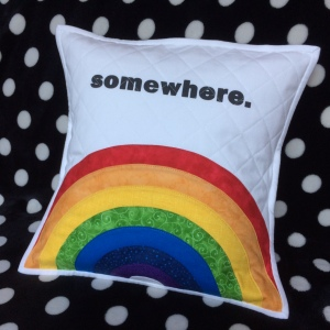 somewhererainbowpillow