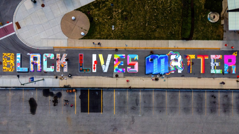 BLM Mural Uptown by 18 artists — taken by Carson Cloud